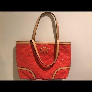 Coral Coach bag!